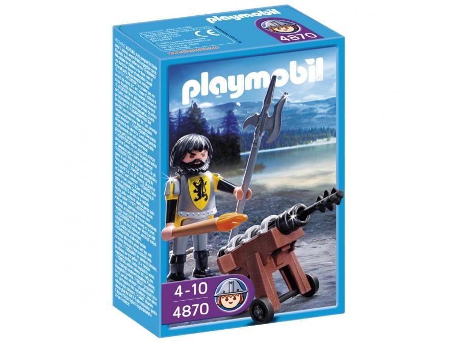 4870-Canonnier Des Chevaliers Du Lion de Playmobil