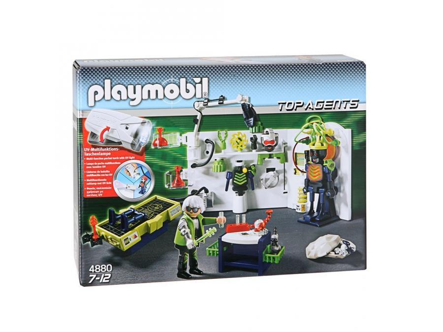Playmobil Top Agents 4880 Laboratoire Du Robo Gang Et Lampe