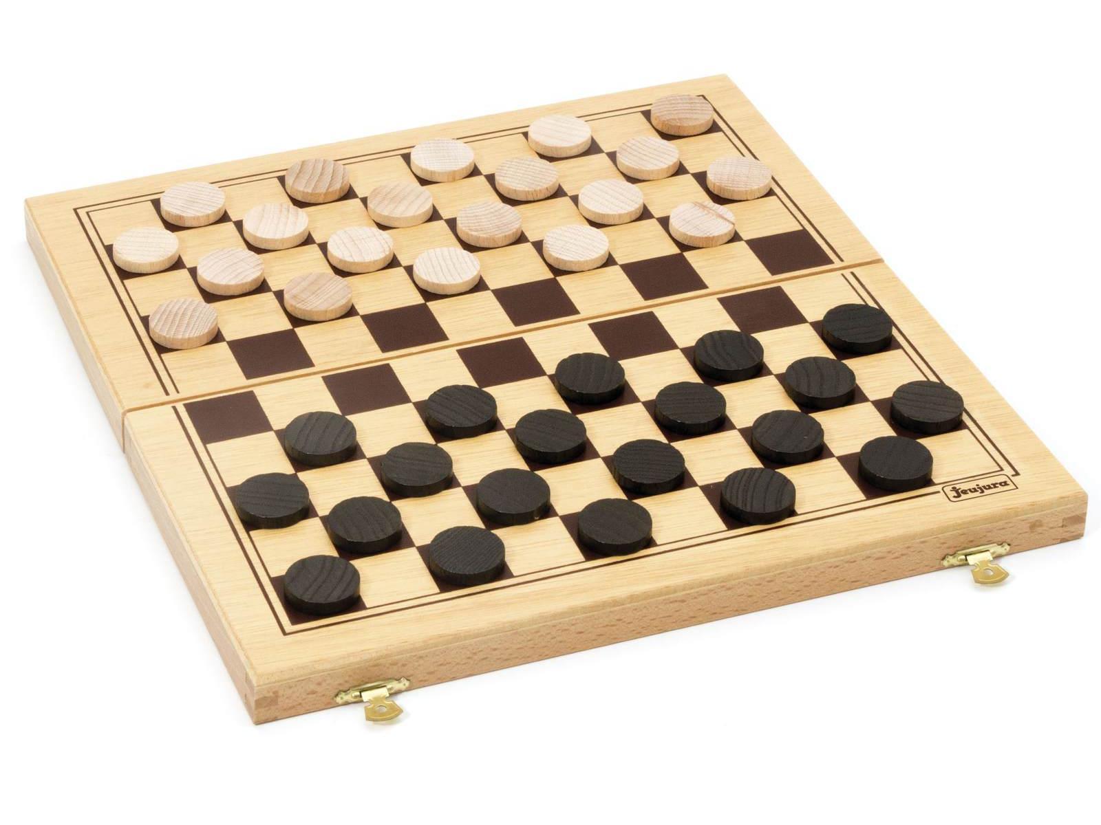 Jeujura - 8131 - jeu de dames - coffret pliant-31 x 16 x 4 cm