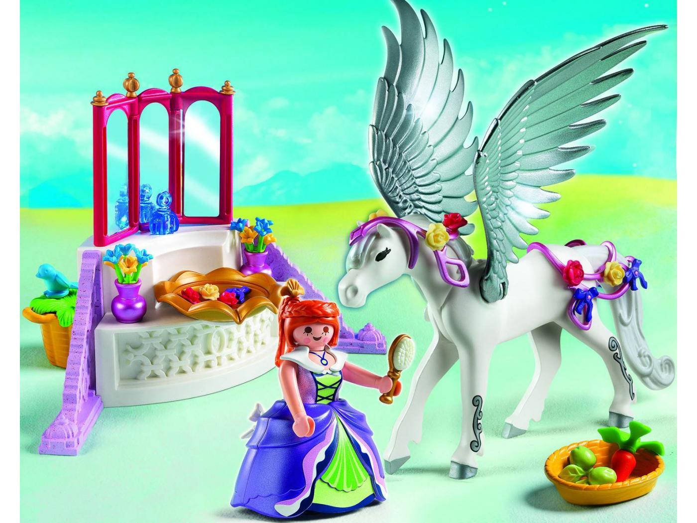 chambre princesse playmobil princesse playmobil cheval ail et coiffeuse de princesse - Playmobil Chambres Princesses