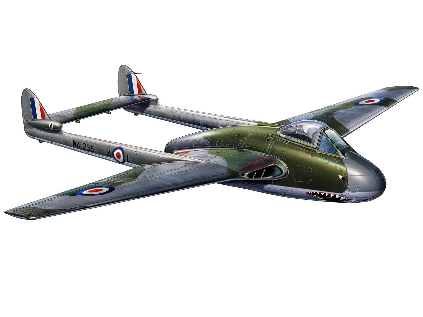 maquette avion vampire