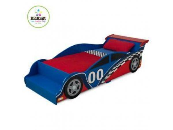 Kidkraft 76038 lit voiture de course enfant - Voiture course enfant ...