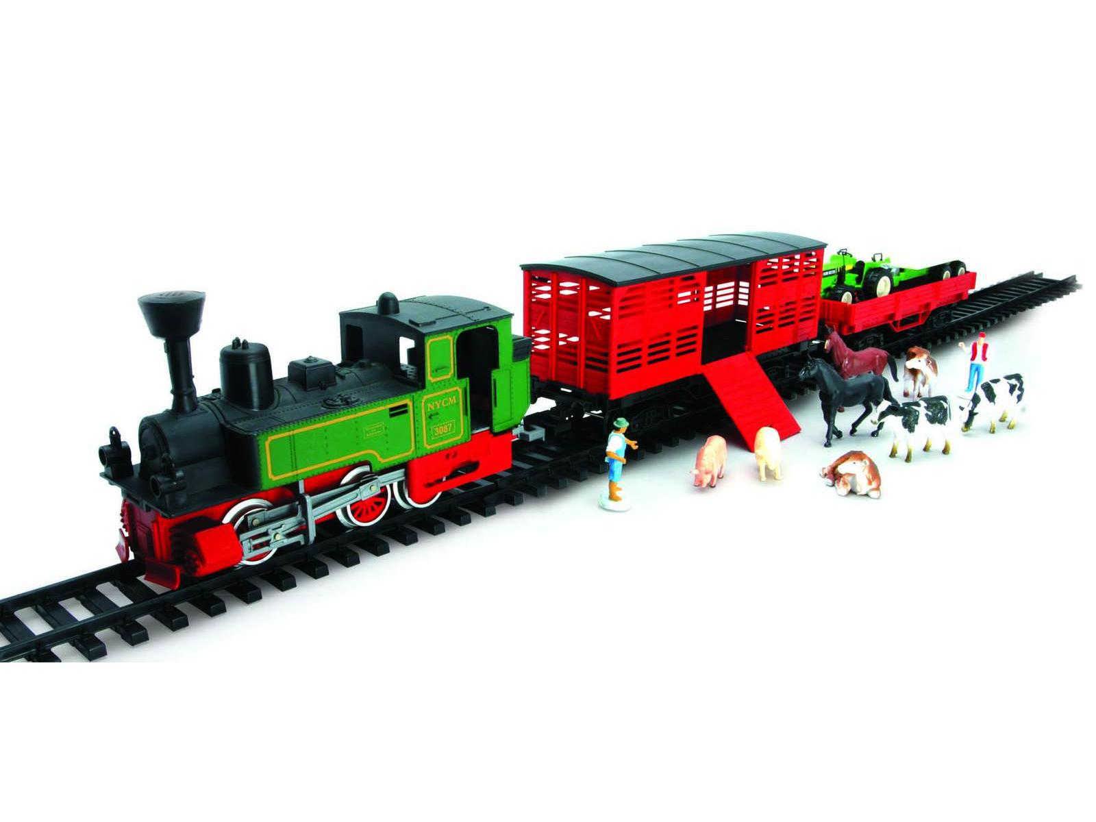 NEW RAY - 08605 - Train electrique loco + 2 wagons + accessoires et ...