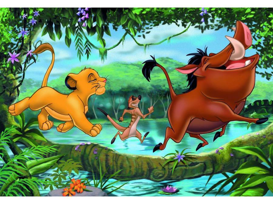 ravensburger 08896 puzzle jeux avec timon et pumba le roi lion 2 x 24 pieces Jungle Puzzle Games Online