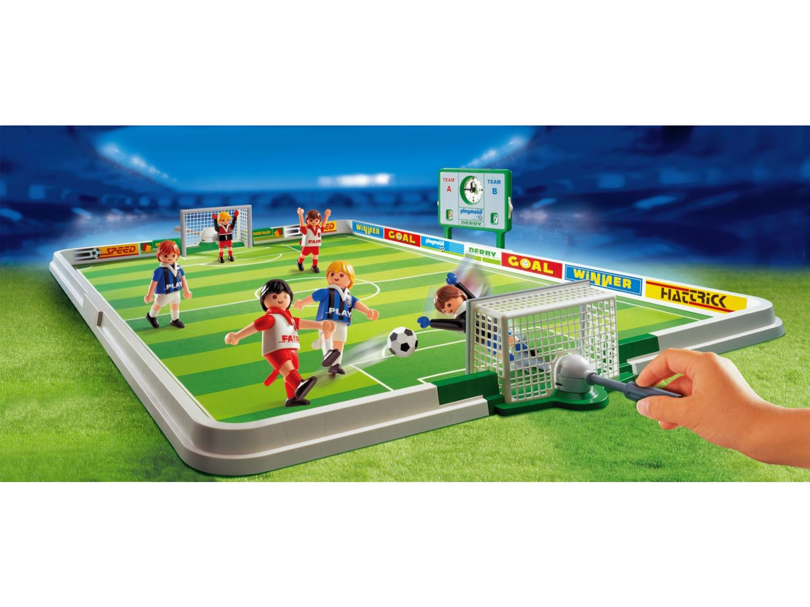acheter joueurs et terrain de football