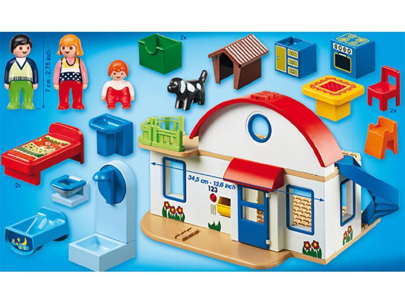 PLAYMOBIL 1.2.3. 6784 Maison de Campagne  Playmobil 123  PLAYMOBIL 1.2.3.