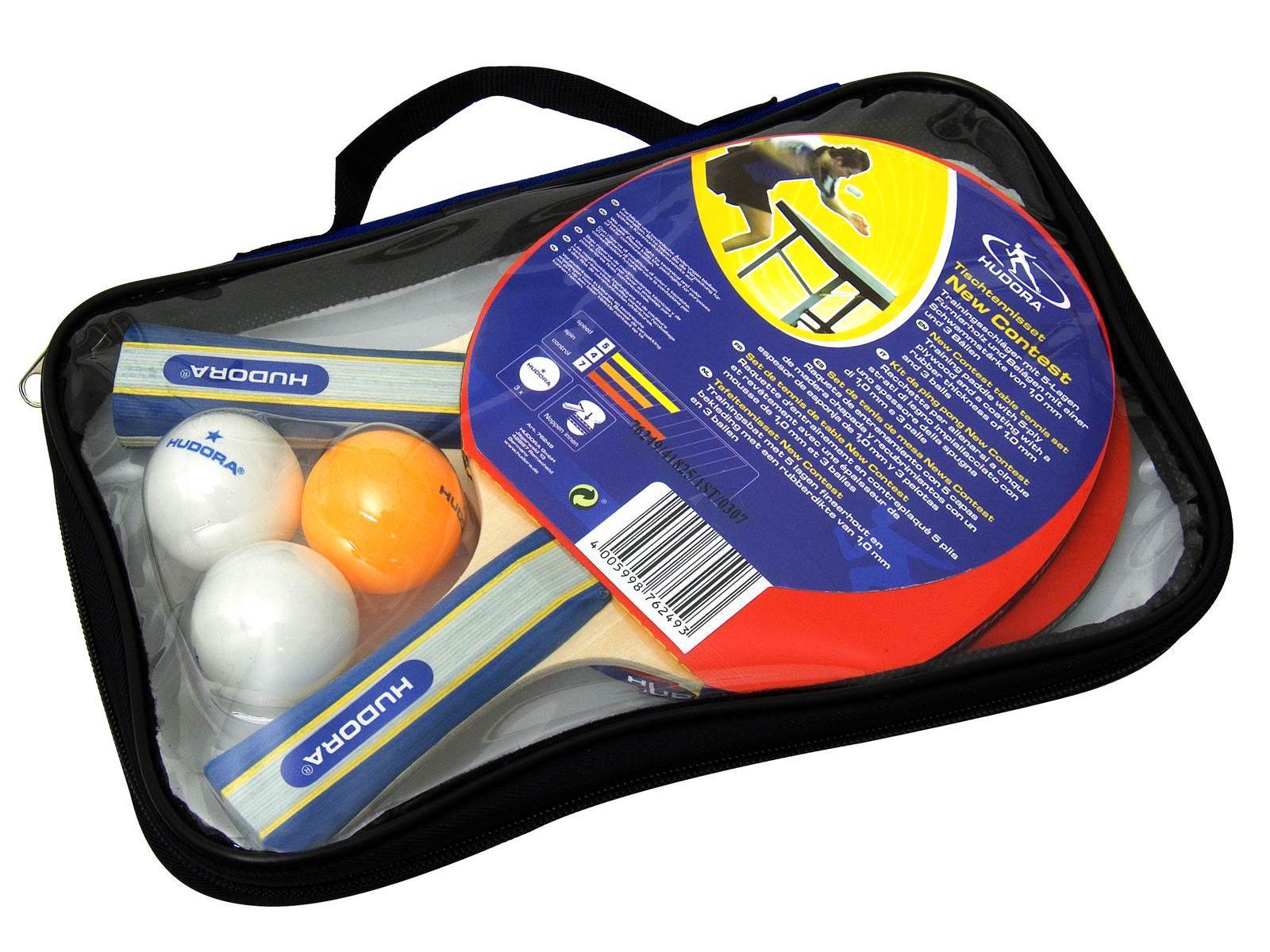 Set de tennis de table, 2 raquettes, 3 balles Hudora (Réf. 76249)