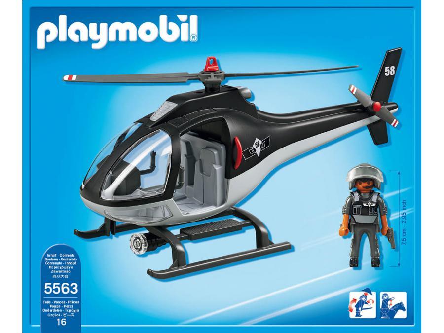Playmobil 5563 : Hélicoptère avec policier des forces spéciales Sans marque